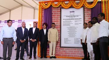 Foundation stone laid for Apollo Tyres plant in AP