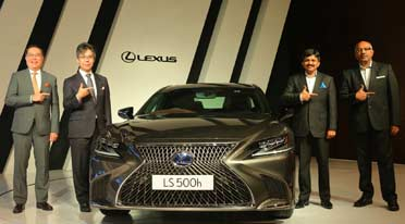 New Lexus India team launches LS500h luxury sedan