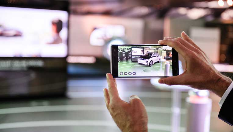 Using Tango, Google's smartphone augmented reality technology, customers can explore their ideal BMW i3 or i8, as a real-size, interactive visualisation.