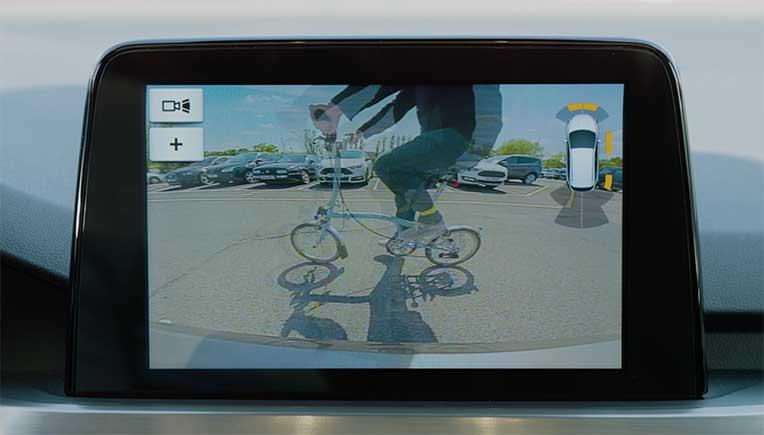 Reverse camera view