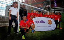 Apollo Tyres and Manchester United score together