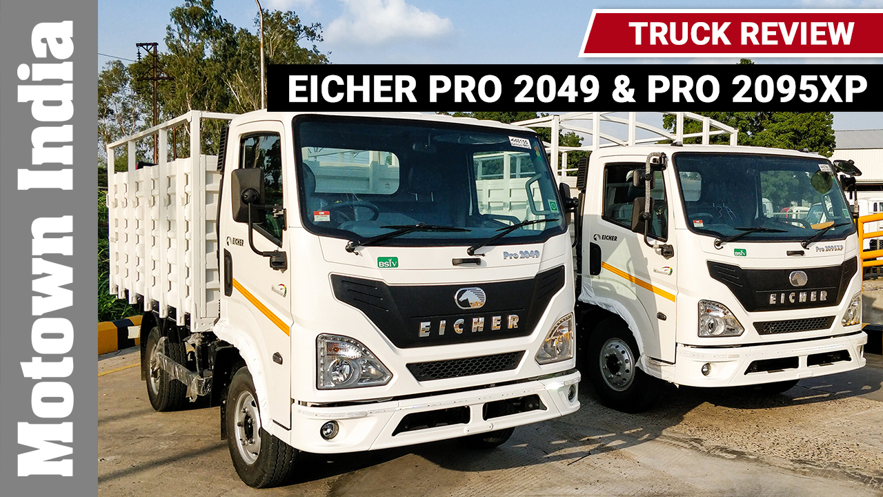Eicher Pro 2049 & Pro 2095XP Truck Review  | Track Review at Pithampur | Motown India, First Drive