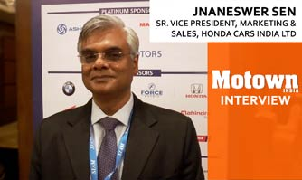 Jnaneswer Sen at the 2017 57th SIAM Annual Convention, Sr. VP Marketing & Sales, Honda Cars India Ltd.