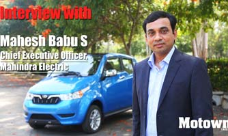 Mahesh Babu S, CEO, Mahindra Electric