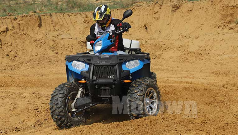 Polaris Sportsman 570 tractor, First Drive