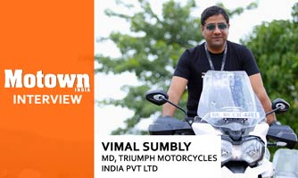 Vimal Sumbly at 2017 57th SIAM Annual Convention, Managing Director, Triumph Motorcycles India Pvt. Ltd.