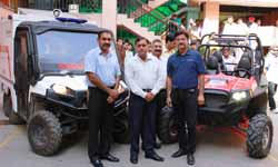 Polaris vehicles to assist in JK relief work