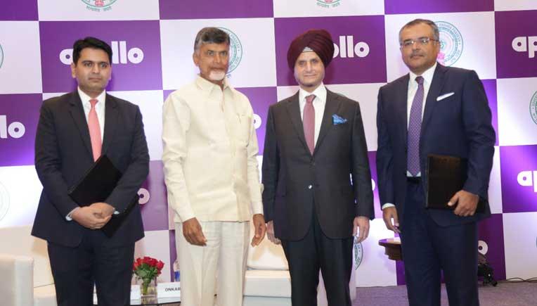 With Andhra Pradesh Chief Minister N Chandrababu Naidu