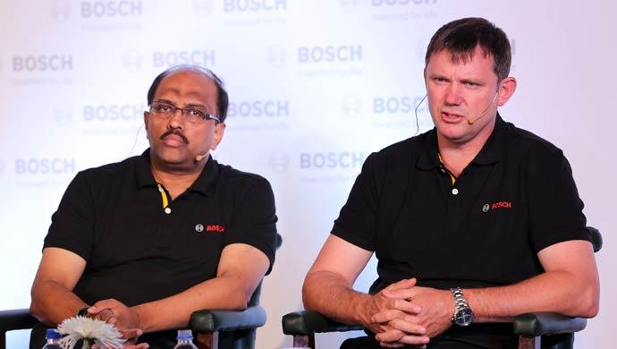 Geoff Liersch, Head of Bosch Business Unit Two-Wheeler & Powersports and Sandeep N, regional business head, Two-Wheeler & Powersports business
