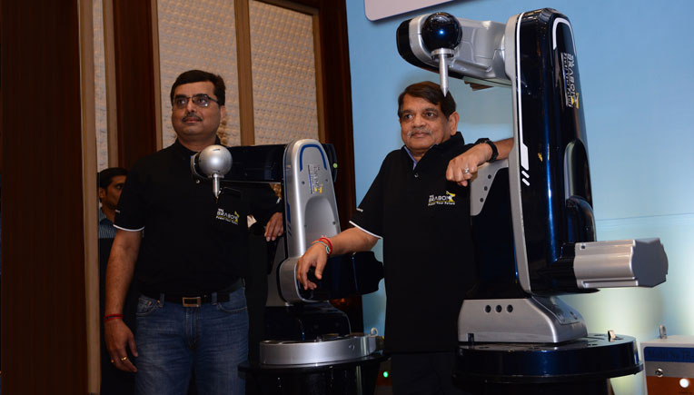 The leadership team from TAL Manufacturing Solutions Ltd.  at the launch of country's first Made-In-India robot TAL 'BRABO'