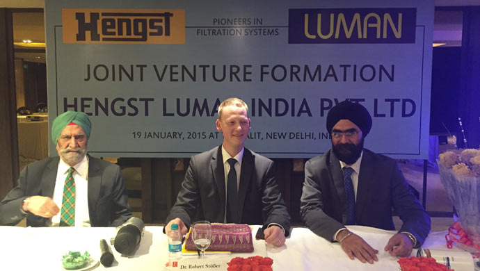 The JV agreement between Luman and Hengst