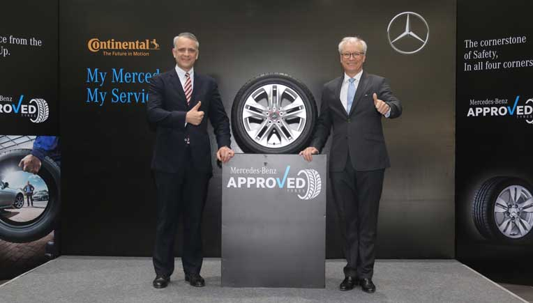 R to L Roland Folger, MD & CEO, Mercedes-Benz India  and Philipp von Hirschheydt, Exec. VP/BU PLT RE APAC Continental Tyres