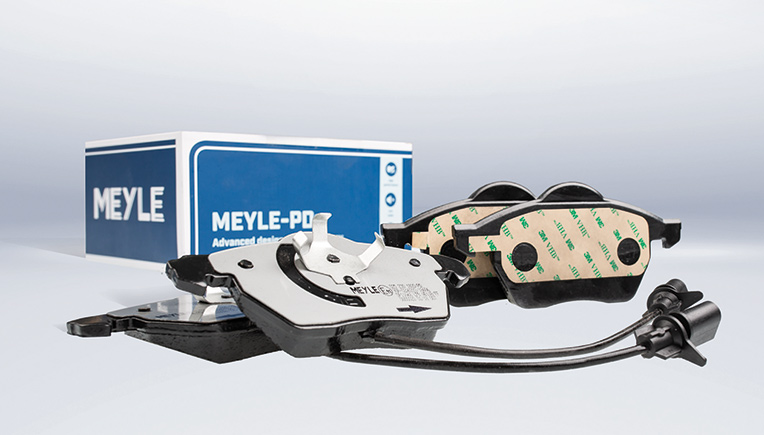 Meyle-PD brake pads with technically advanced friction pad compound