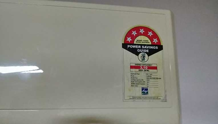 star rating label for an air-conditioner