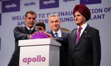 Apollo Tyres inaugurates Rs 3246 crore Hungary plant