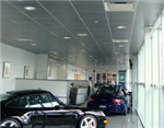 GlacialLight LED lights at Porsche showroom