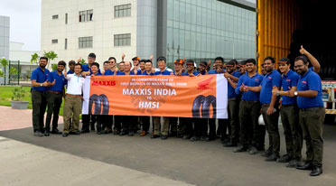 Maxxis Sanand Plant rolls out first batch of tyres for HMSI