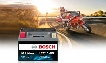 New lightweight Bosch M Li-ion motorcycle battery