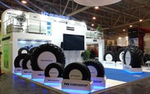 TVS tyre is showcased at Reifen 2014, Germany.