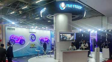TVS tyres showcases select range at Auto Expo 2018