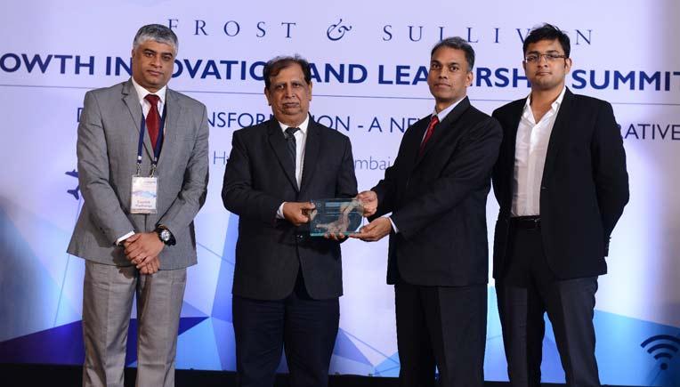 Varroc officials receiving the innovation award
