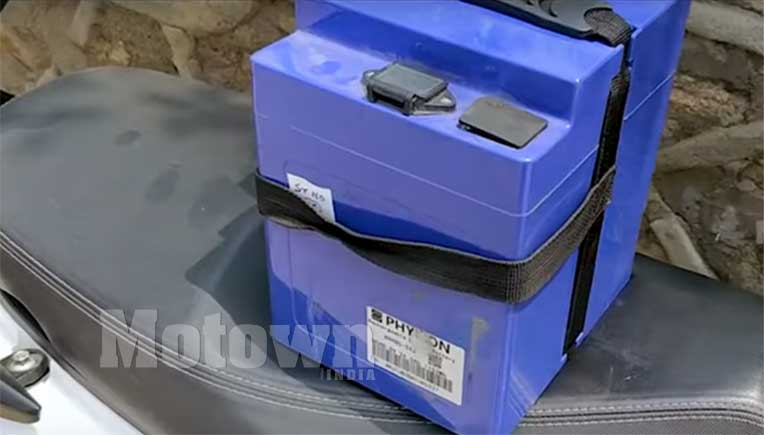 A two-wheeler lithium ion battery, pic for representation purpose only