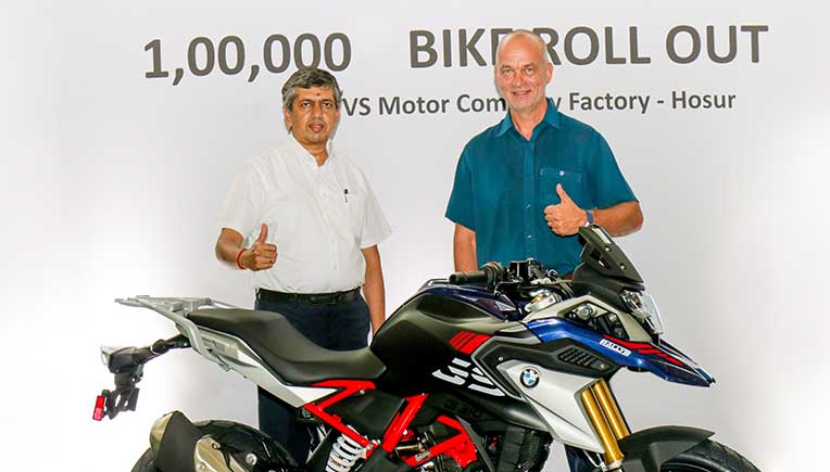 TVS rolls out 100,000 unit of BMW 310cc motorcycle from Hosur facility