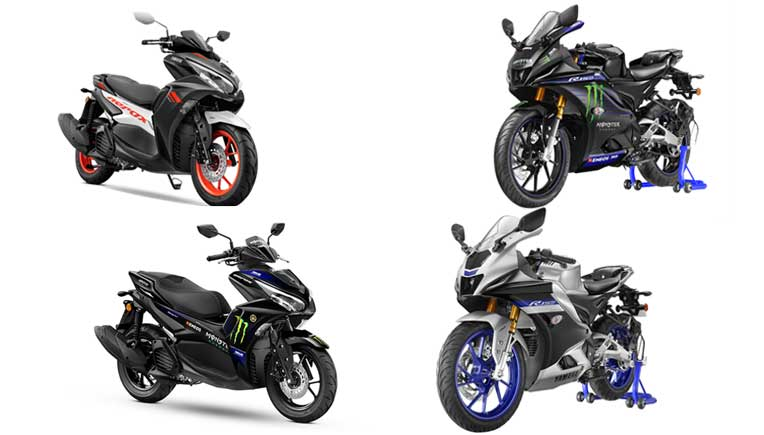 New Yamaha YZF-R15 V4, YZF-R15M motorcycles, Aerox 155 maxi sports scooter launched