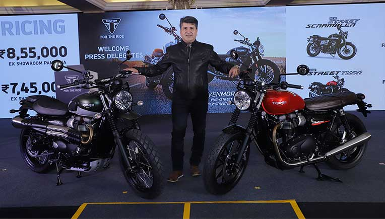 Triumph Motorcycles launches all-new Street Twin & Scrambler