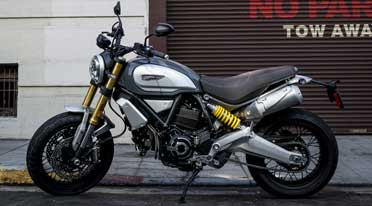 Ducati Scrambler 1100 Special displayed at Audi stall