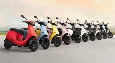 Ola electric scooter gets ten unique colours