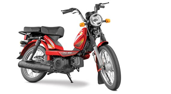 TVS Motor Company launches 4-stroke TVS XL 100 in Delhi for Rs. 30,174