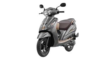 TVS Wego  in two new colours priced at Rs 50434