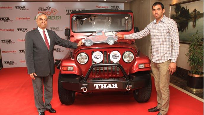 Anup kumar receives mahindra thar 4x4 off roader motown india altavistaventures Images