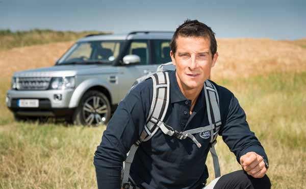 bear grylls is land rover global brand ambassador
