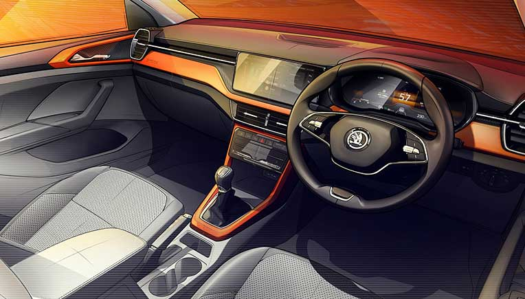 Interior sketch offers first preview of the Skoda Kushaq SUV