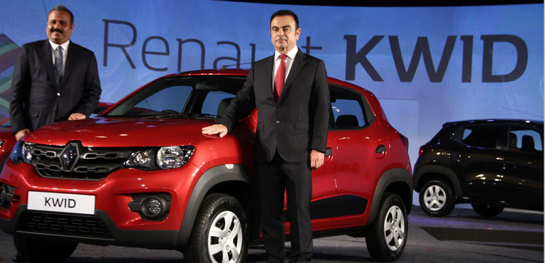 Renault KWID Compact Hatchback unveiled in India