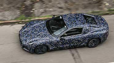 A glimpse of the new Maserati GranTurismo prototype