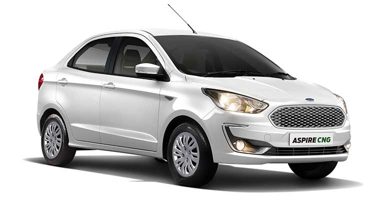 CNG powered new Ford Aspire launched at Rs 6,27,414 onward