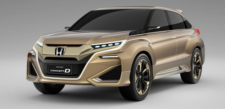 Concept D for a new SUV model from Honda in China