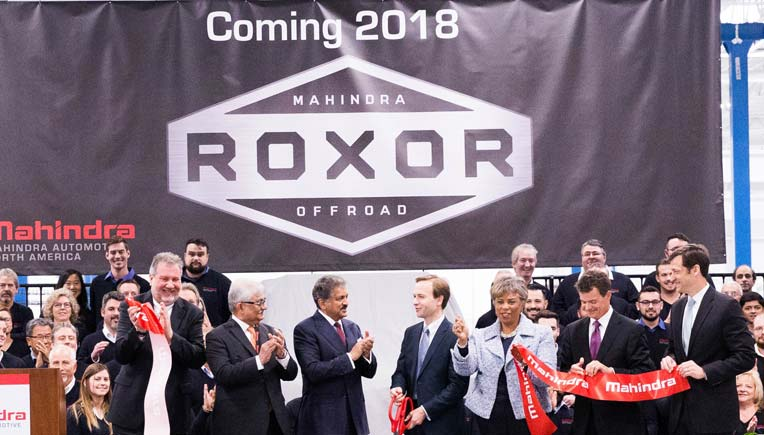 Mahindra  off road vehicle Roxor to be launched in US in 2018