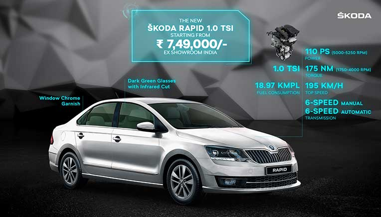 New Skoda Rapid unveiled at Rs 7.49 lakh onward