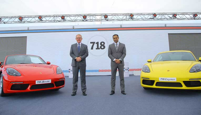 Porsche India launches new 718 Cayman and Boxster