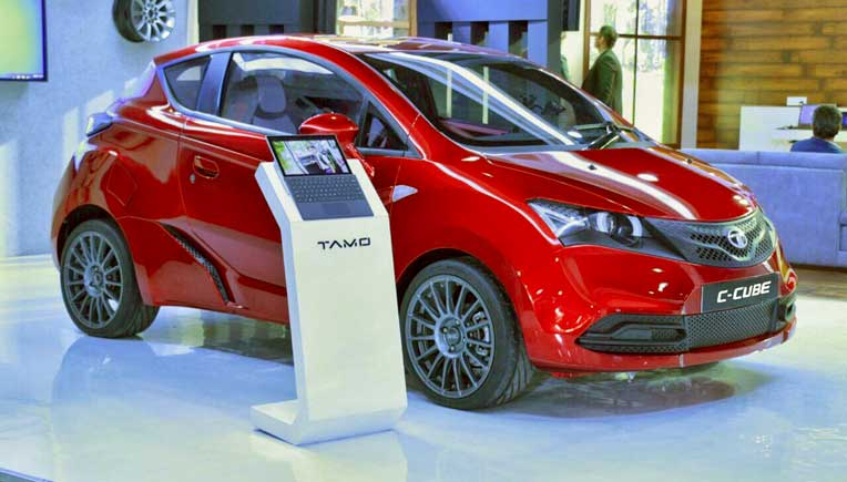 Tata Motors displays concept car C-Cube
