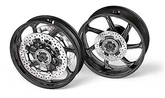 M Performance carbon fibre wheels for the BMW S 1000 RR