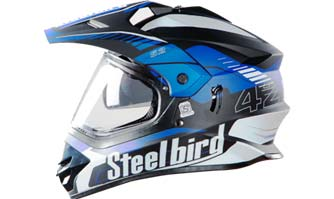 SB 42 Bang Airborne - Motocross helmets from Steelbird