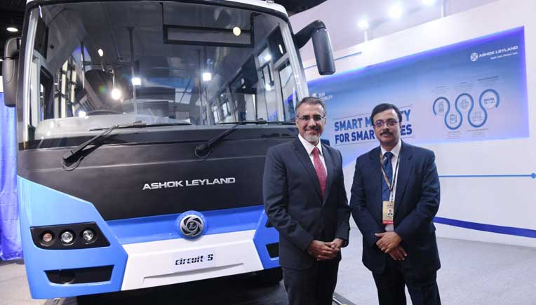Ashok Leyland Circuit-S electric bus powered by Sun Mobility