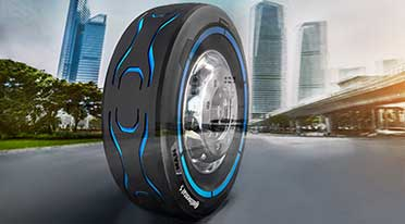 IAA COMMERCIAL VEHICLES 2018: Continental , MAN present design tyre for electric trucks
