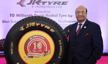 JK Tyre rolls out 10 millionth truck/bus radial tyre
