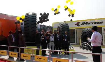 JK Tyre showcases the largest tyre in India